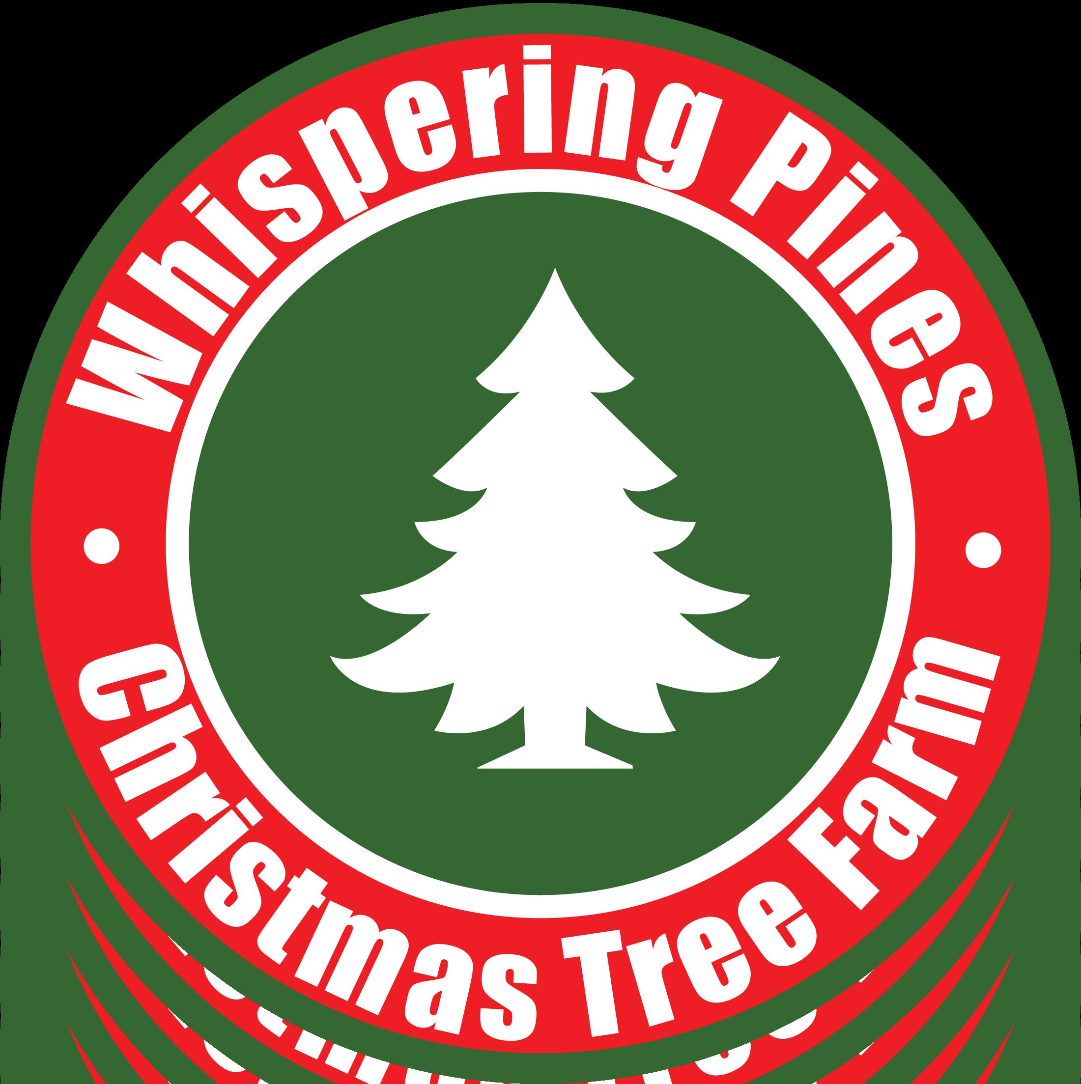 Christmas Tree Farm Logo.Whispering Pines Christmas Tree Farm